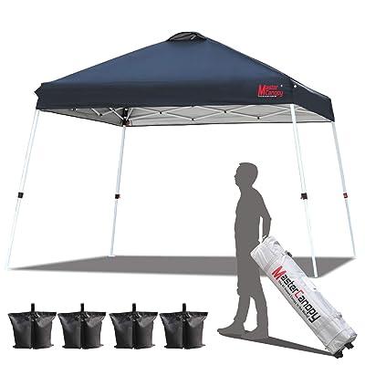 MASTERCANOPY Slant Leg Pop Canopy Tent 10'x10' Instant Outdoor Canopy Easy Set up Folding Shelter (Black) : Garden & Outdoor