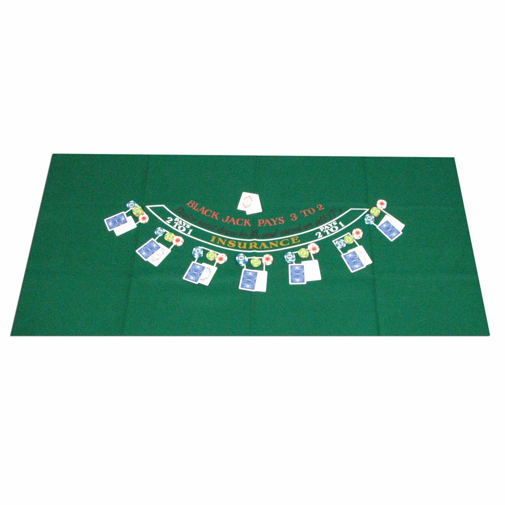 Trademark 10-3010 Poker Blackjack Layout, 36 X 72-Inch 405694