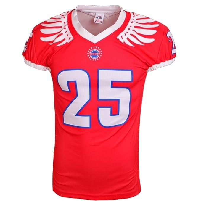 Deportes Ropa Corlor camiseta de fútbol roja americana (2XS)