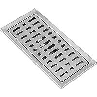 Rejilla de desagüe rectangular de acero inoxidable,
