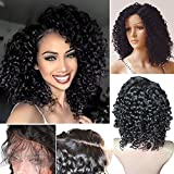Hibaby Hair Brazilian Full Lace Human Hair Wigs Wet Wavy Beyonce Lace Front Human Hair Wigs Virgin Human Hair Lace Front Wigs Black Women(12 inch with 150% density)