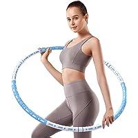 Jabykare Detachable Weighted Hula Hoop 2lb for Adult Exercise - Adjustable to 5lb Fitness Hoola Hoop, Abdominal Burner…