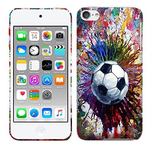 Glisten Designer Hard Plastic Case for iPod Touch 6, iPod Touch 5 - Vintage Color Soccer . Slim Profile Cute Printed Designer Snap on Case by Glisten (Ipod Touch Designer Case)