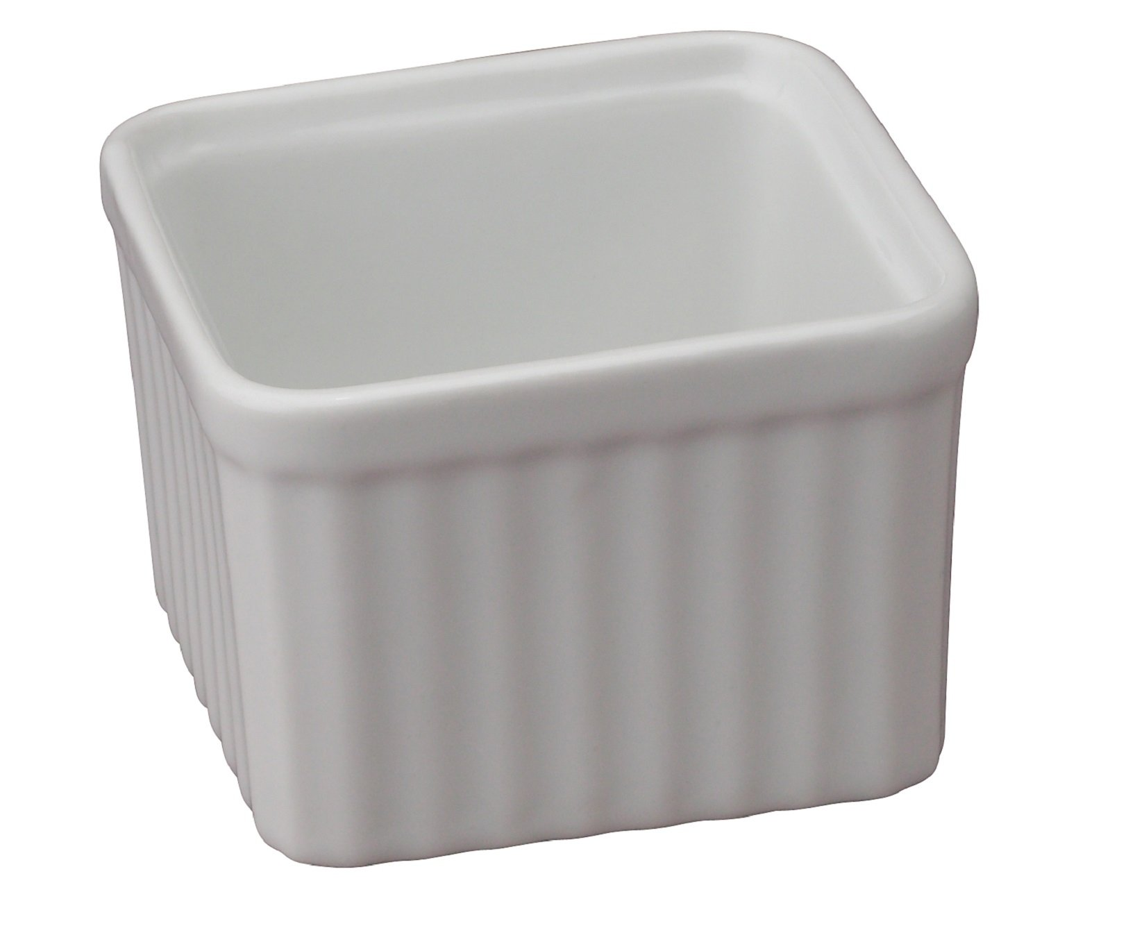 HIC Square Ramekins, Porcelain, 3-Inch, 6-Ounce Capacity, Set of 6 by HIC Harold Import Co. (Image #2)