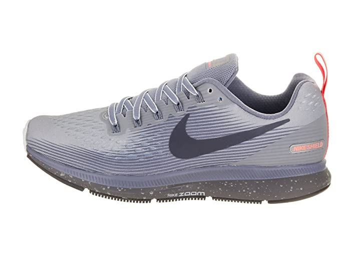 Nike Damen Air Zoom Pegasus 34 Shield, Chaussures de Running Femme, Multicolore (Wolf Grey/Thunder Blue-Dark SK), 42 EU