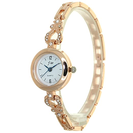 f2d7db65d99 Rhinestone Mounted Heart Bracelet Luxury Women Watches Gold Jewelry Cuff  Wristwatch Women Dress Popular Watches