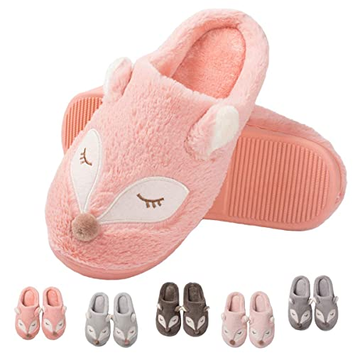 80dc393b0a33 Cute Animal House Slippers-Fuzzy Warm Slippers Soft Plush Home Slippers  Slip On Memory Foam