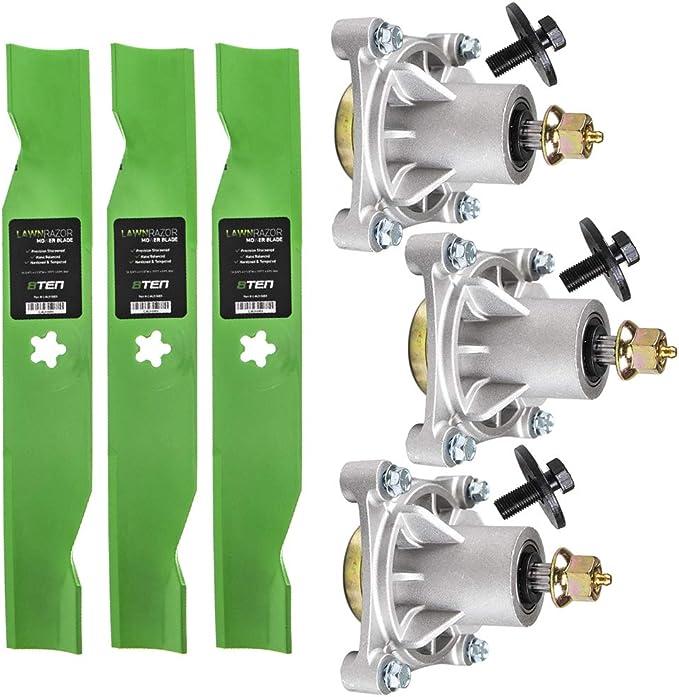 """Spindle Blade Belt 54/"""" Deck Kit for Husqvarna Z4219 Z4824 532187292 510201101"""