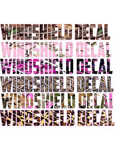Decal-Assorted-Heaven-Custom-Camo-Windshield-Decals