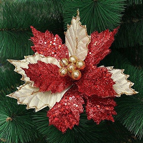 Zoilmxmen Christmas Flowers Xmas Tree Decorations