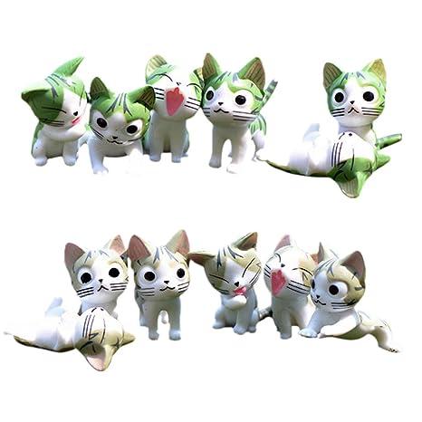MagiDeal 12 Piezas Mini Gatos de Resina Accesorios de Casa ...