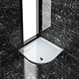 1000x1000x40mm Quadrant Stone Tray for Bathroom Shower enclosure Corner Glass Door Free Waste trap NEXT DAY DELIVERY by sunny showers,ultra
