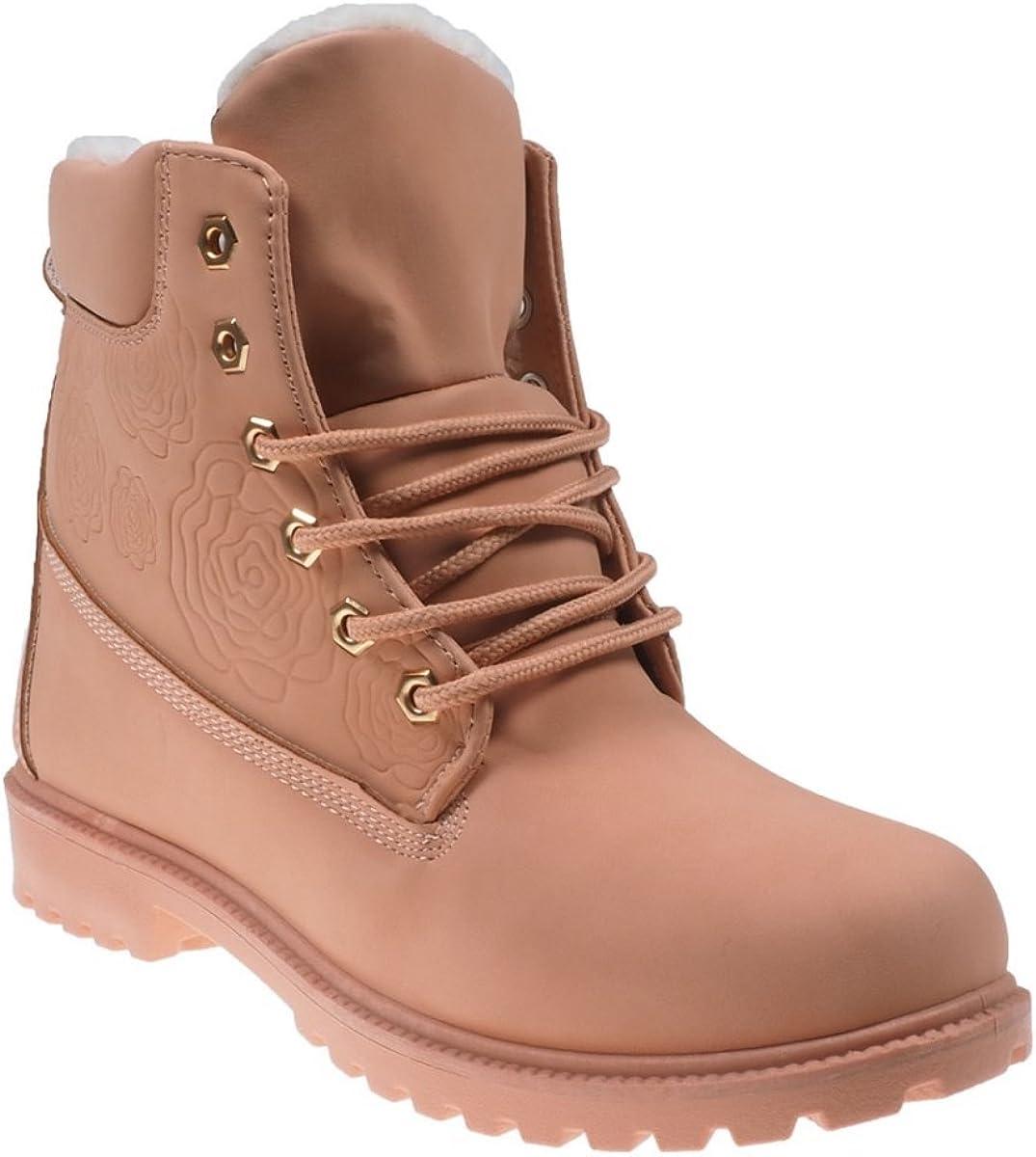 5062 Gefütterte Damen Stiefel Stiefelette Ankle Boots Booties Schnürschuhe .