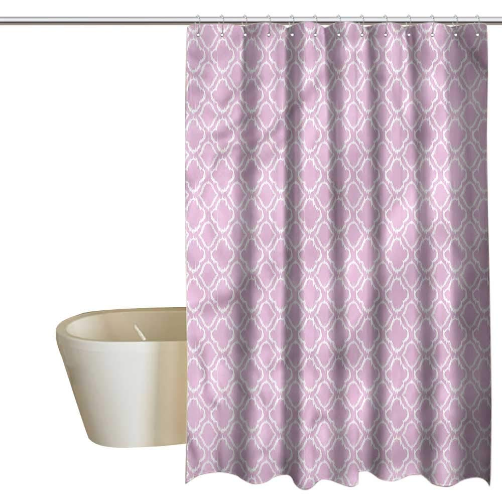 Denruny Shower Curtains Black Art Ikat,Classical Ethnic Pattern,W108 x L72,Shower Curtain for Girls