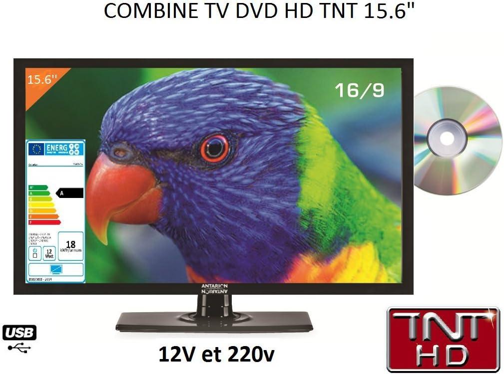 Televisión LED de alta definición + DVD, 39 cm, para autocaravana, 220 V/12 V/24 V: Amazon.es: Electrónica