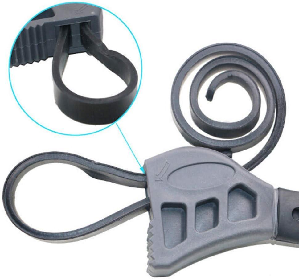 geeignet f/ür Jede Form /Öffnungs-Werkzeug Schwarz verstellbar 500 mm Multifunktions-Schraubenschl/üssel LJTJX Schraubenschl/üssel Auto-Reparatur-Werkzeuge Gummiband