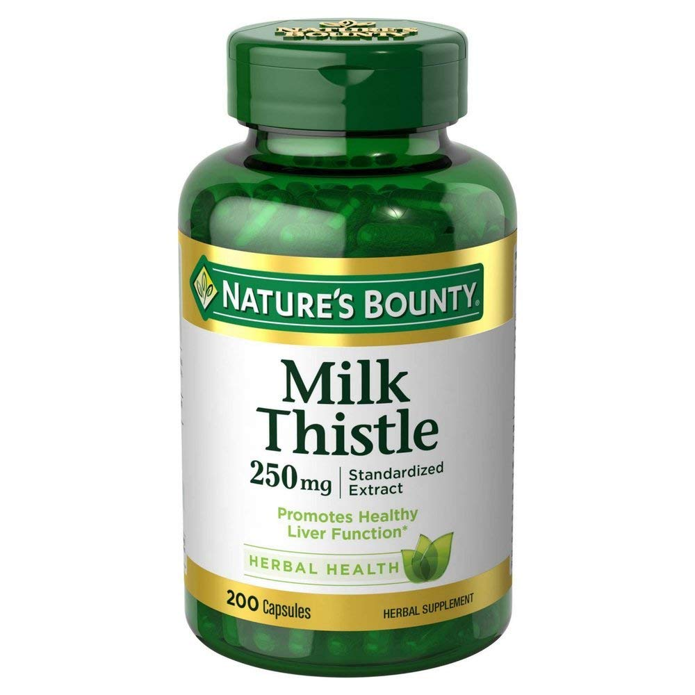 Nature s Bounty Milk Thistle 250 mg Capsules 200 ea Pack of 6