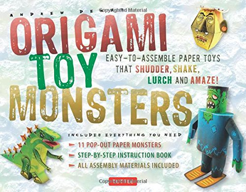 Origami Toy Monsters Kit: Easy-To-Assemble Paper Toys That Shudder, Shake, Lurch and Amaze!: Kit with Origami Book, 11 Cardstock Sheets & Tools (Easy Halloween Projects For Kids)