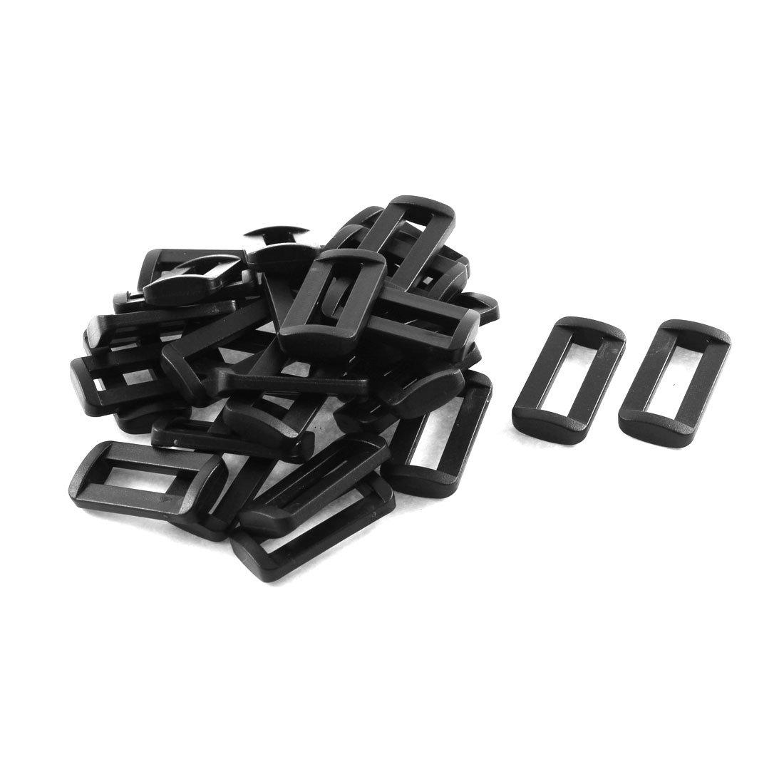 Plastic Bar Slides Buckles 30pcs Black for 25mm Webbing Strap uxcell a15050400ux0036