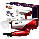 Berta 1875 Watts Folding Hair Dryer Tourmaline Ceramic Negative Ionic Blow Dryer US Plug