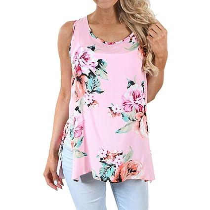 Tops,❤️Ba Zha Hei Camiseta estampada para mujer Moda mujers Impresión de flores de