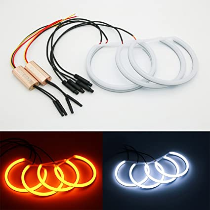Unipower TMT Leds(TM) Kit Cotton LED Angel Eyes Colores Duales ...