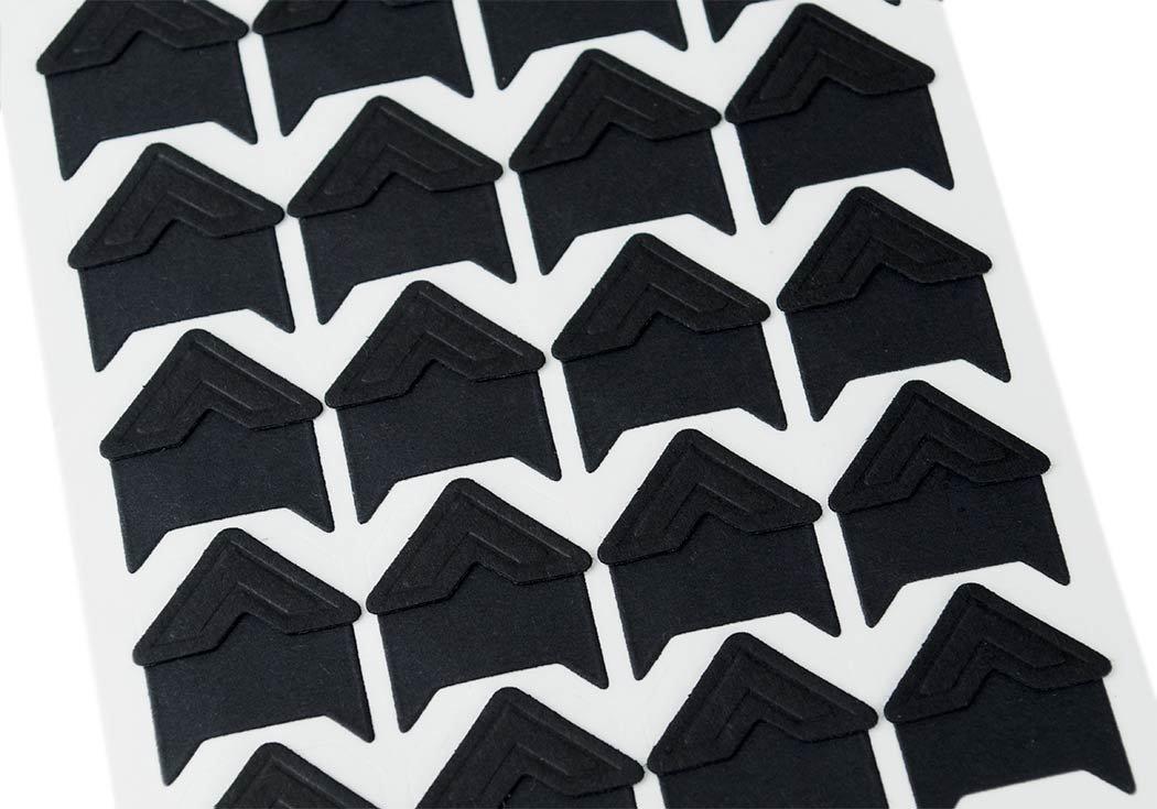 Vintage Angoli Per Foto Carta Classica Triangolini Adesivi Dimensione Regolare Colore Nero 2cm x 2cm