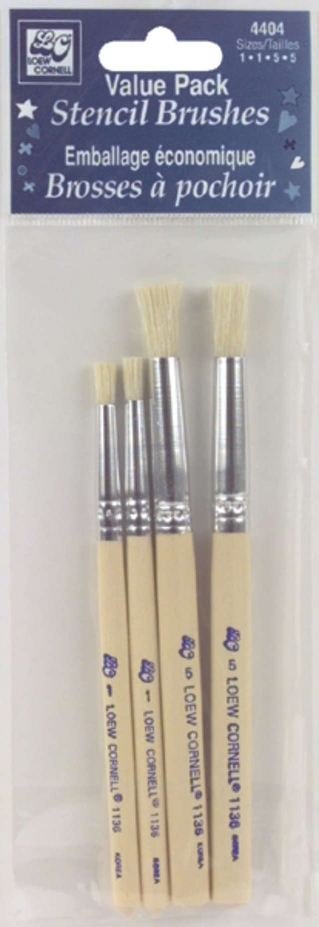 Loew-Cornell 4404 Bristle Stencil Brush Set by Loew-Cornell