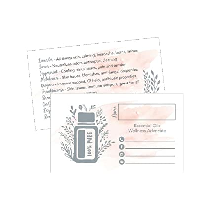 Amazon 25 Watercolor Essential Oils Business Cards For