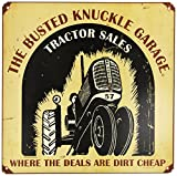 "Busted Knuckle Garage BKG-150 12"" Vintage Tractor Sales Shop Metal Sign"