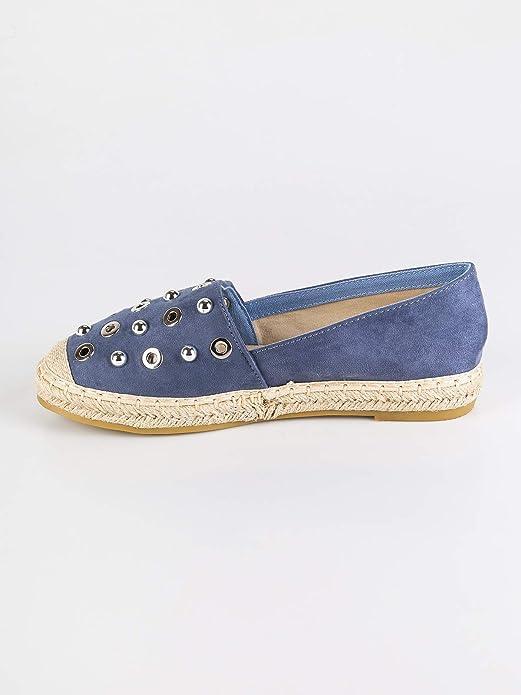 5f288f650f8 Tessuto Shoes con e Donna it Amazon Borchie Sweet borse Espadrillas Scarpe  wdXqgwO