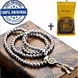 VIOLET JEWELLERY Outdoor Self Defense Chain 108 Buddha Beads Necklace Chain - Valentines Day gifts for him