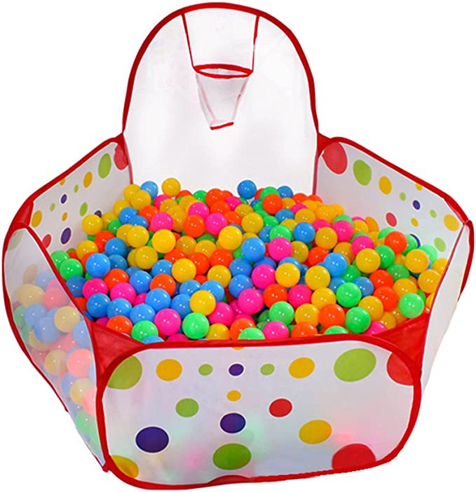 Pink PlayMaty Ball Pit Play Tent with Basketball Hoop for Kids Toddlers Outdoor Indoor Play 4 Ft//120CM Balls Not Included