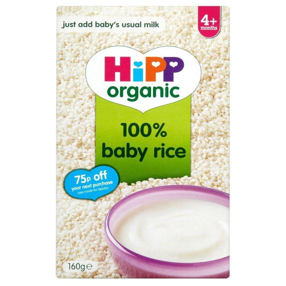 Hipp Organic Baby Rice 4mth+ (160g) - Pack of 2