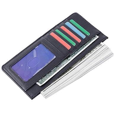 Amazon.com: Monedero para tarjetas de crédito, fino, largo ...