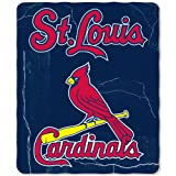 MLB St. Louis Cardinals Wicked Printed Fleece Throw, 50-inch by 60-inch