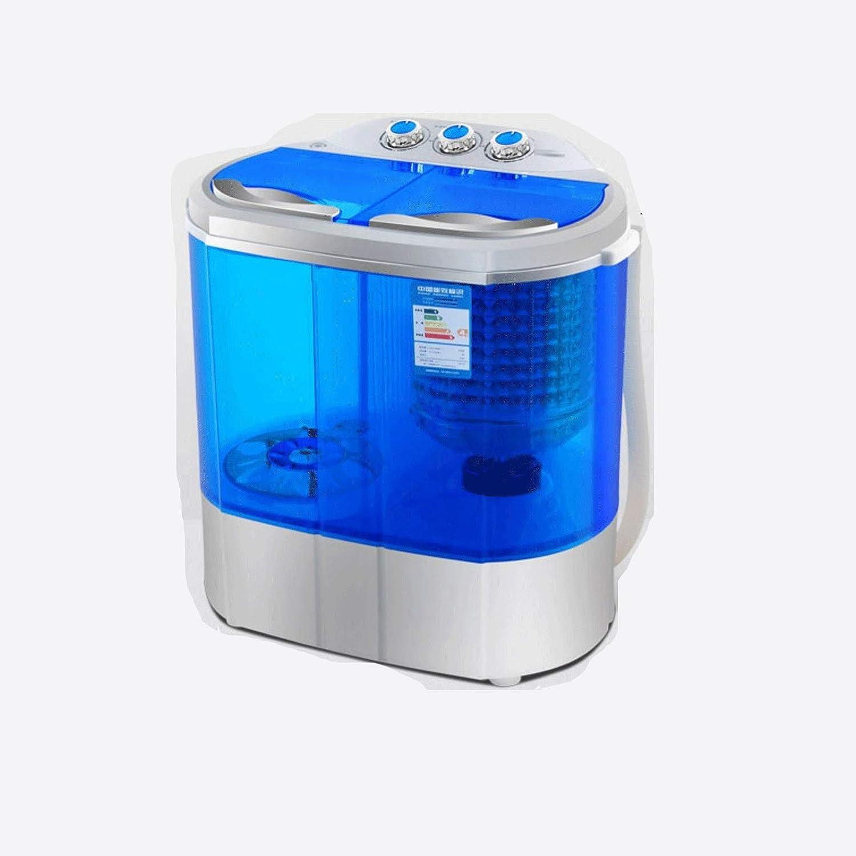 Mini Lavadora Mini bañera doble portátil Lavadora con ciclo de lavado y giro, capacidad de drenaje de gravedad incorporada para acampar, apartamentos, dormitorios, habitaciones universitarias, RV, del