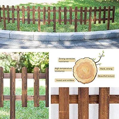 Wooden Picket Fence Garden Wood Border Fence Instant Fence Panels