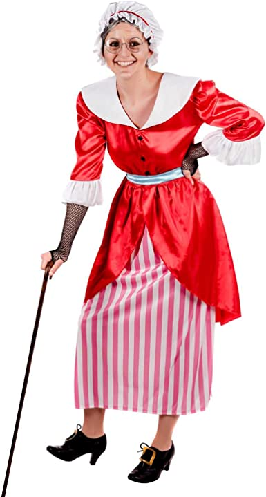 OLD MOTHER HUBBARD SET One Size Red Riding Hood-Ladies-Fancy Dress-Granny