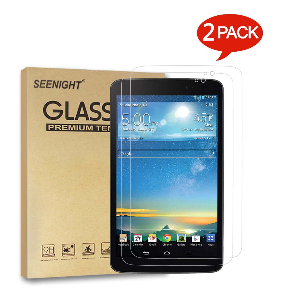 [2 Pack] LG G Pad X8.3 X 8.3 (4G LTE Verizon Wireless VK815) Tempered Glass Screen Protector - 9H Hardness Scratch Resistant for LG G Pad X 8.3-Inch Tablet NOT Fit LG G Pad 8.3 V500