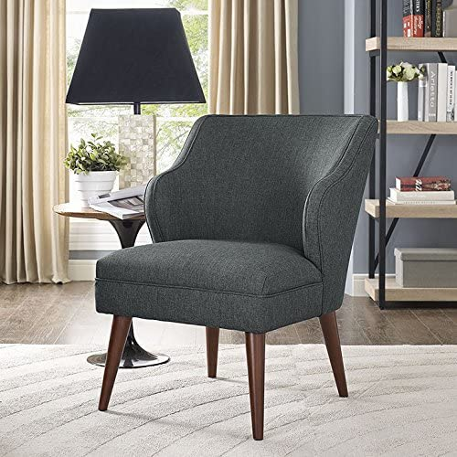Modway Swell Upholstered Fabric Armchair in Gray