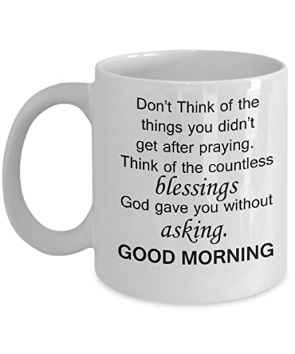 Amazoncom Good Morning Handsom Mug Good Morning Blessings