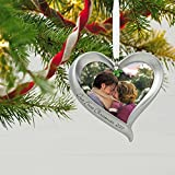 Hallmark Keepsake 2017 Our First Christmas Loving Heart Picture Frame Dated Christmas Ornament