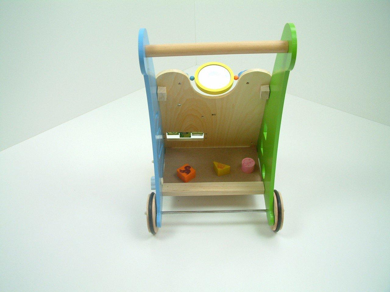 33 cm breit Ma/ße ab 1 Jahr Material 50 cm hoch Gewicht Lauflernwagen mit Motorikspielen ca 3,9 kg Unbekannt Activity Walker Holz