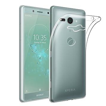 Qoosea Funda Sony Xperia XZ2 Compact Delgado Crystal Ultra Clear Carcasa Absorción de Golpes, Antideslizante, Anti Arañazos Premium Flexible TPU ...