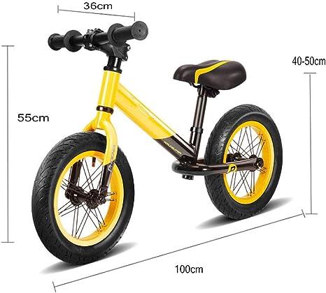 Balance Enfant Bicicleta de Metal para niños y niñas, 14 Pulgadas para niños de 3 a 9 años de Edad: Amazon.es: Deportes y aire libre