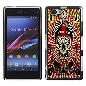 Dragon Case - FOR Xperia Z1 Compact D5503 - Let me go out - Caja protectora de pl??stico duro de la cubierta Dise?¡Ào Slim Fit