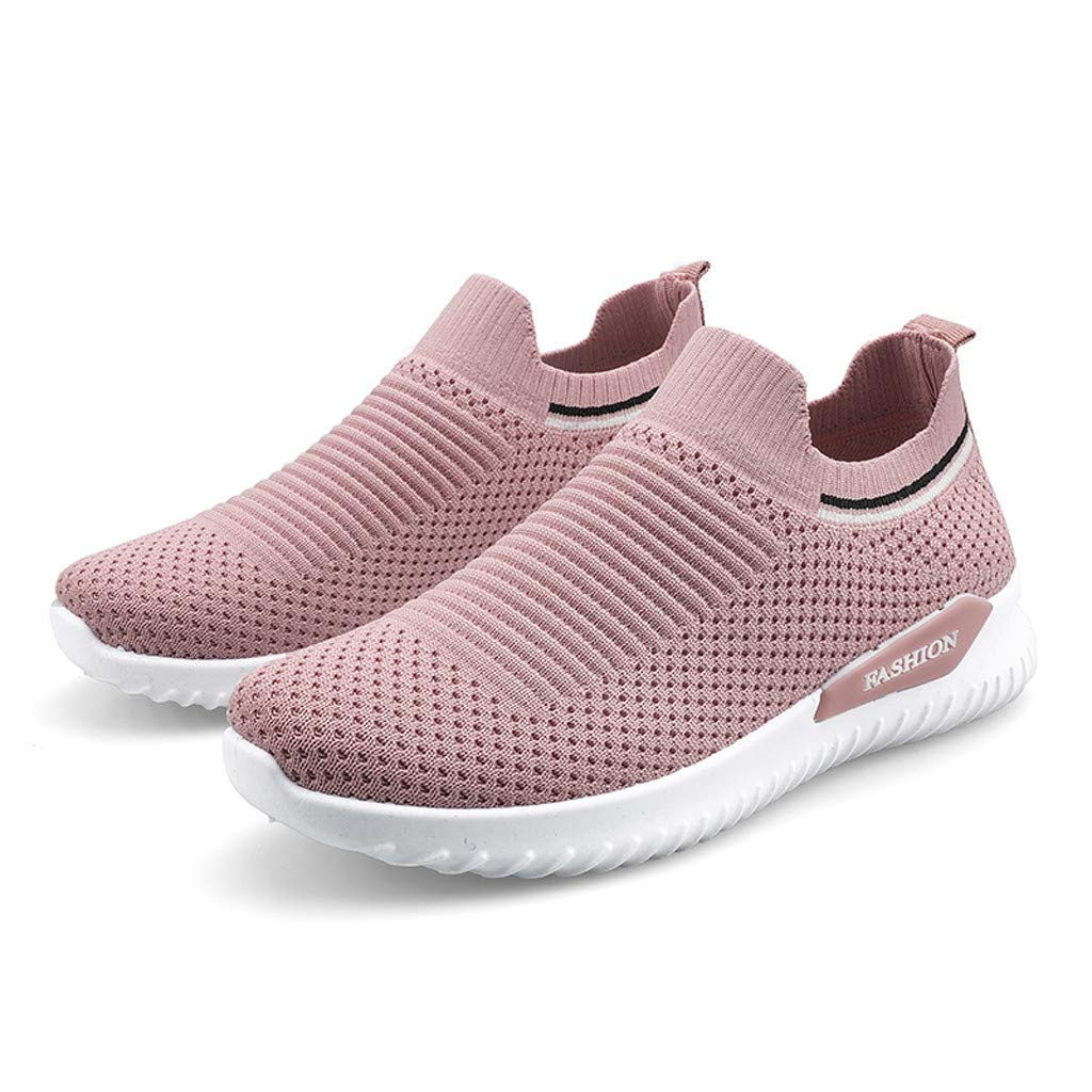Moonker Womens Men Arch Support Sneakers Wide Width Walking Shoes Ladies Mesh Outdoor Fitness Running Shoes