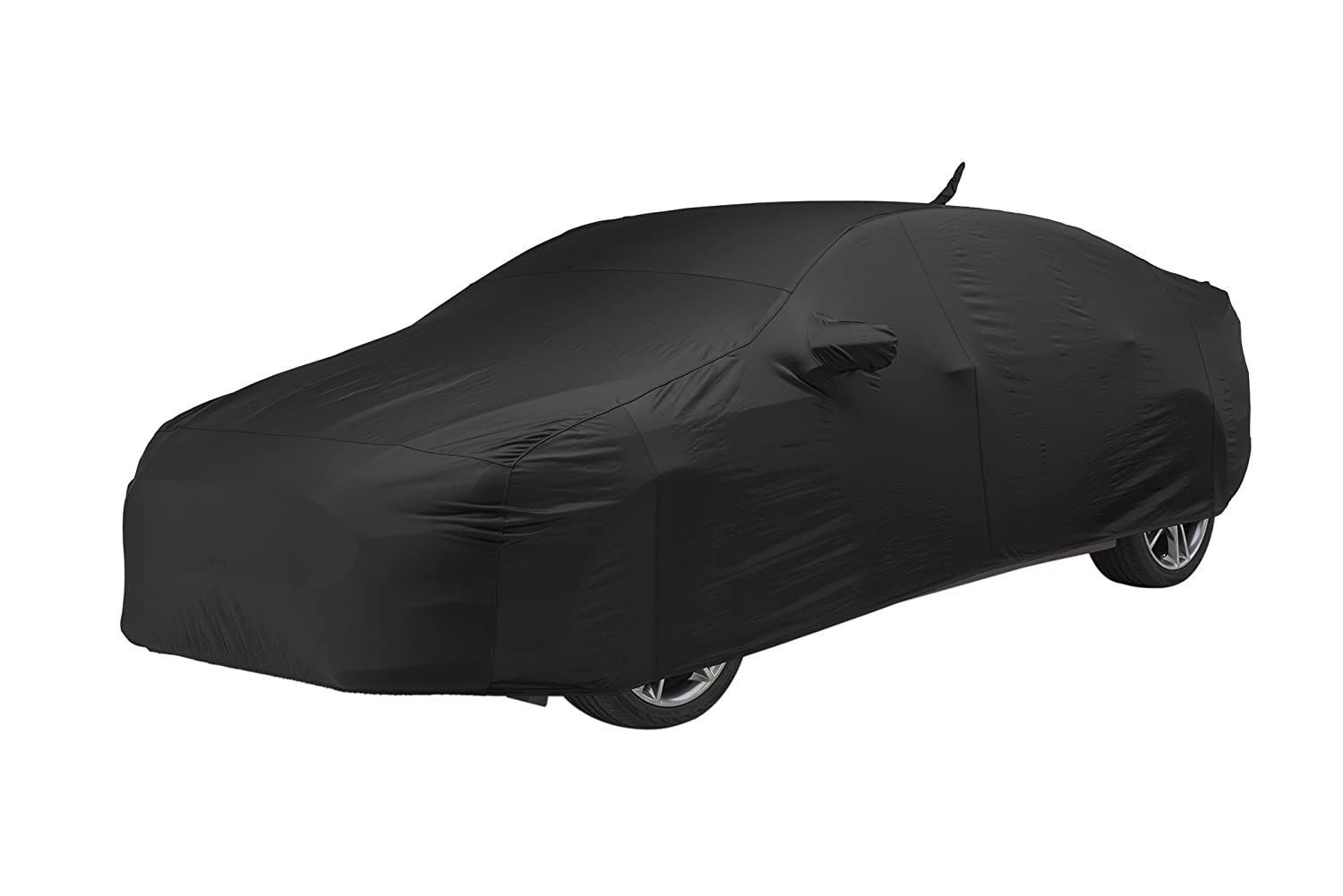FS17321F5 Covercraft Custom Fit Car Cover for Select Ford Fiesta Models Fleeced Satin Black