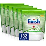 Finish 0% Dishwasher Tablets, 132 Tablets (6x22)